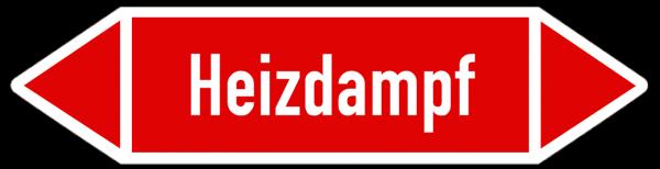 Fließrichtungspfeil Heizdampf weiß/rot