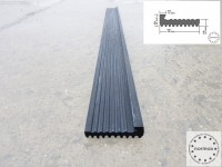 Federgummi / Gummistreifen mit Anschlagkante zur Körperschallentkopplung 1m Länge