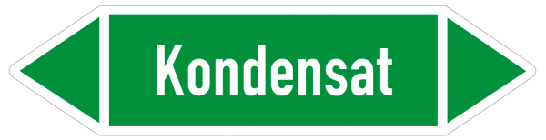 Fließrichtungspfeil Kondensat grün/weiß