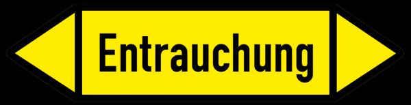 Fließrichtungspfeil Entrauchung gelb/schwarz