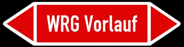 Fließrichtungspfeil WRG Vorlauf rot/weiss
