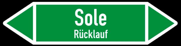 Fließrichtungspfeil Sole Rücklauf grün/weiß