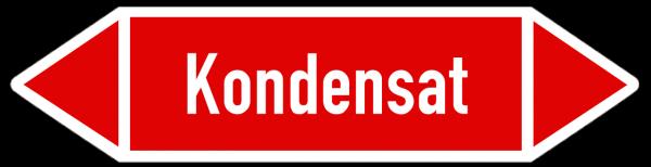 Fließrichtungspfeil Kondensat rot/weiß