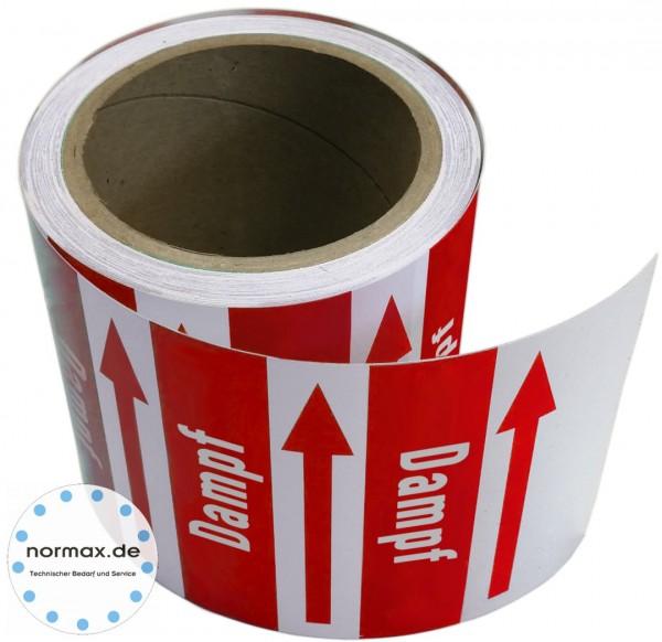 Rohrleitungsband Dampf rot/weiß
