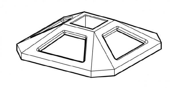 Sikla Dachfuß/Sockelhalter SHB SQF 350 x 350mm