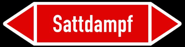 Fließrichtungspfeil Sattdampf rot/weiß