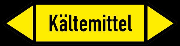 Fließrichtungspfeil Kältemittel gelb/schwarz