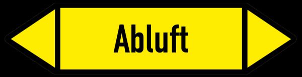 Richtungspfeil Abluft gelb/schwarz