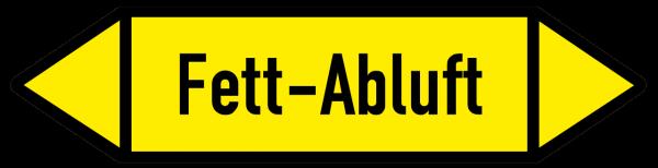 Fließrichtungspfeil Fett-Abluft gelb/schwarz