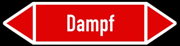 Fließrichtungspfeil Dampf rot/weiß
