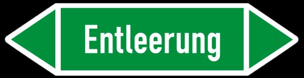 Richtungspfeil Entlleerung grün/weiß