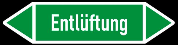 Richtungspfeil Entlüftung grün/weiß