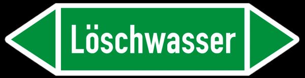 Fließrichtungspfeil Löschwasser grün/weiß