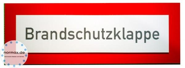 """Gravurschild """"Brandschutzklappe"""" 148 x 52mm"""