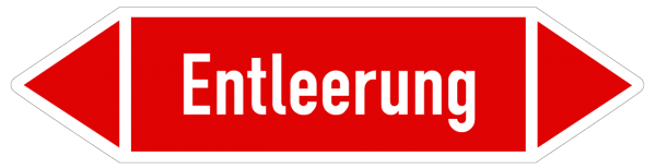 Richtungspfeil Entlleerung rot/weiß