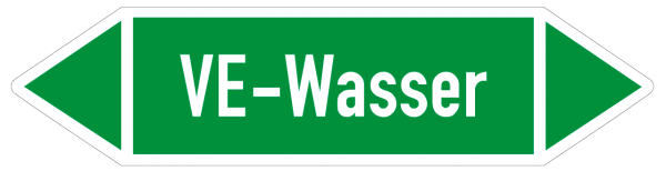 Fließrichtungspfeil VE-Wasser grün/weiß