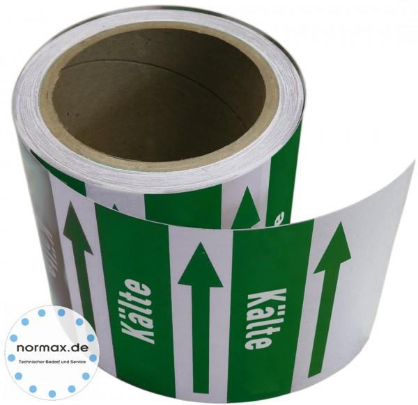Rohrleitungsband Kälte grün/weiß