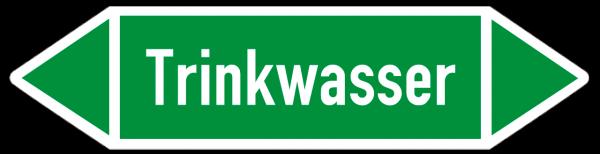 Fließrichtungspfeil Trinkwasser grün/weiß