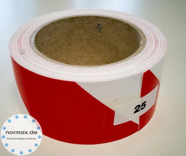Warnband Rot / Weiß - Links