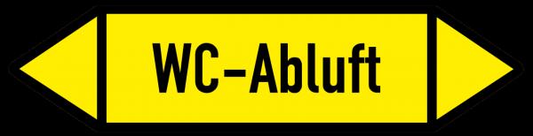 Fließrichtungspfeil WC-Abluft gelb/schwarz