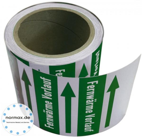 Rohrleitungsband Fernwärme Vorlauf grün/weiß