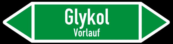 Fließrichtungspfeil Glykol Vorlauf grün/weiß