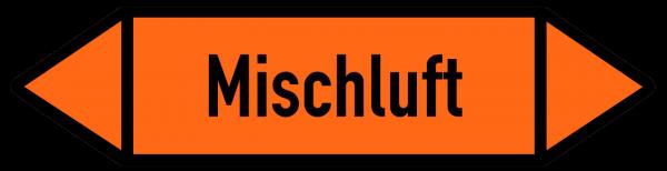 Fließrichtungspfeil Mischluft orange/schwarz