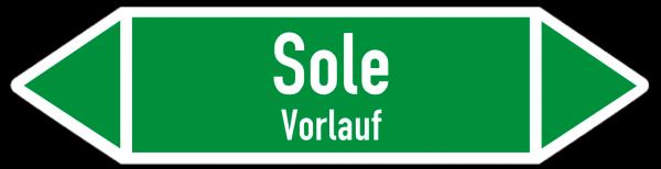 Fließrichtungspfeil Sole Vorlauf grün/weiß