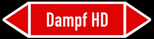 Fließrichtungspfeil Dampf HD rot/weiß