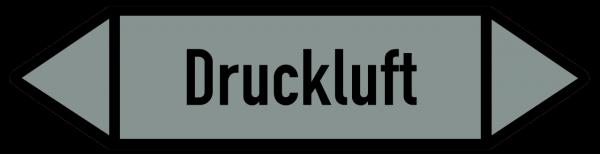 Richtungspfeil Druckluft grau/schwarz