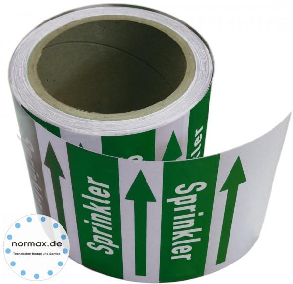 Rohrleitungsband Sprinkler grün/weiß