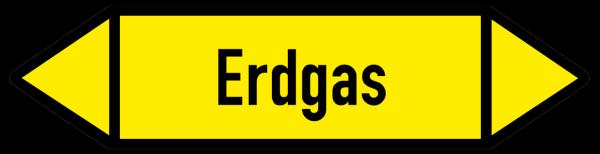 Richtungspfeil Erdgas gelb/schwarz