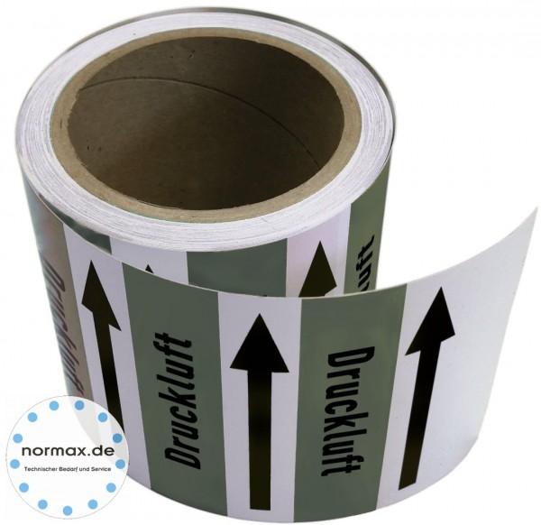Rohrleitungsband Druckluft grau/schwarz