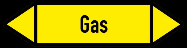 Richtungspfeil Gas gelb/schwarz