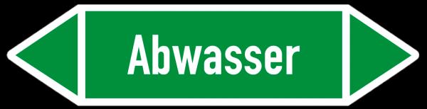 Richtungspfeil Abwasser grün/weiß