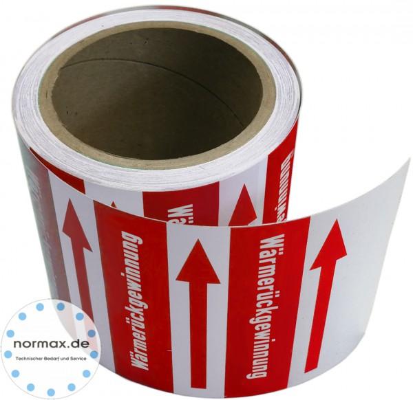 Rohrleitungsband Wärmezurückgewinnung rot/weiß