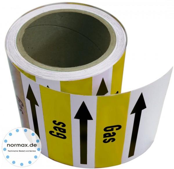 Rohrleitungsband Gas gelb/weiß